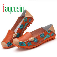 High quality New Women Leather Shoes Loafers Soft Leisure Flats mocassin femme Female Casual Shoes 170117