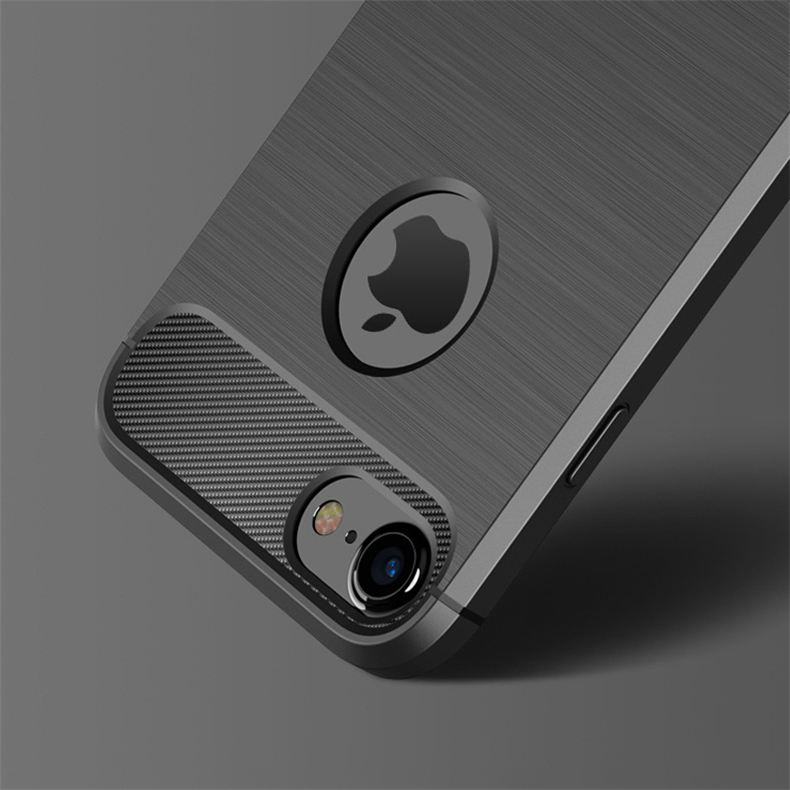 Most popular Shockproof Phone Case For iPhone X 8 7 6 6s Plus 5 5s SE Case New Carbon Fiber Soft TPU Drawing Phone Case Back