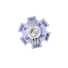100X best quality six pin 3W RGB LED lamp beads with 20mm aluminum heat sink free shipping