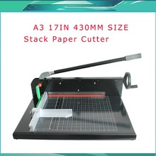 "Brand New Heavy Duty All Metal Ream Guillotine 17"" A3 Size Stack Paper Cutter Cutting Machine(China)"