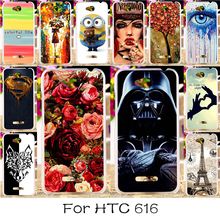 22 styles Hard Plastic Soft TPU Silicon Phone Case For HTC Desire 616 D616W 5inch Cover Skin Bag Hood Painted Cover for HTC 616