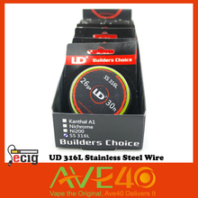 100% Authentic UD 316L Stainless Steel Resistance Wire for Rebuildable Atomizers from ave40