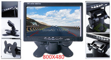 High Quality 7 inches color TFT LCD 800X480 display 12-36V DC Car Rearview Headrest Monitor with 2 video input VCD DVD camera(China)