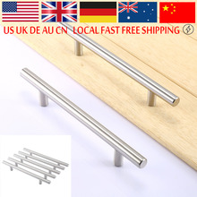Stainless Steel Pull Handle Kitchen Cabinet T Bar Door Knob Furniture Handle Drawer Pull Knob(China)