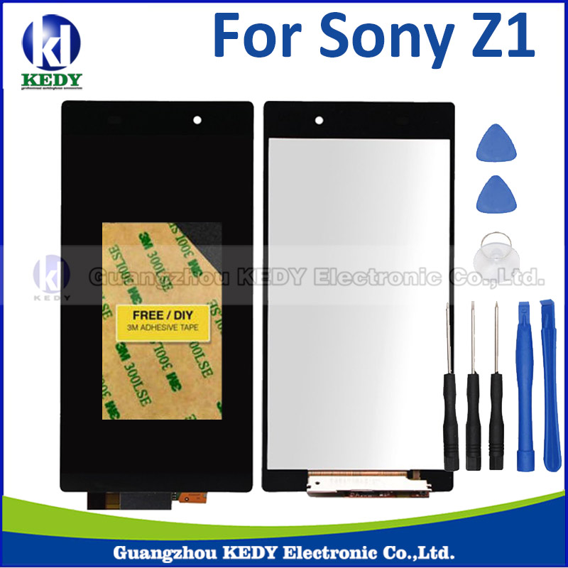 1pcs 100% test lcd display with touch screen digitizer Assembly For Sony Xperia Z1+tools<br><br>Aliexpress
