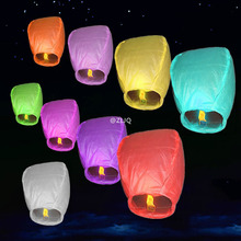 20pcs/lot Chinese Paper Lantern Sky Lanterns Flying Wishing Lamp Kongming Lantern Balloon Wedding Party Decoration 7Z