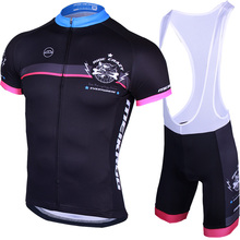 Original Meikroo crazy dog black bib short sleeve cycling jersey sets pro team Ropa Ciclismo with low price(China)