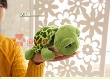 stuffed animal cute tortoise plush toy 25cm green turtle with big eyes doll about 9 inch toy p0081(China)