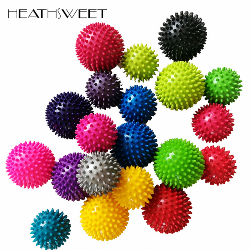 Healthsweet 9.5cm/7.5cm Spiky Trigger Point Massage Ball Roller Pain Stress Relief for Palm Foot Hand Body Massager Random Color(China)
