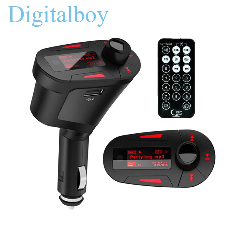 LCD Car MP3 Player Wireless Audio FM Transmitter Radio Modulator Car Music Player with USB Charger Adapter()