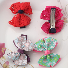 Cute Style Hair Accessories New Design Flower Bowknot Hair Barrettes Girls Hollow Ribbon Hairpins Kids Accessories Hair Clips(China)