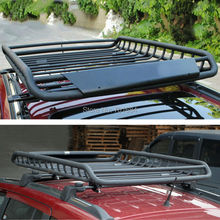 Black Top Roof Rack Rail Cross Bars Luggage Carrier Cargo Storage Frame Box Universal For Jeep Cherokee Grand Cherokee [QPA410]