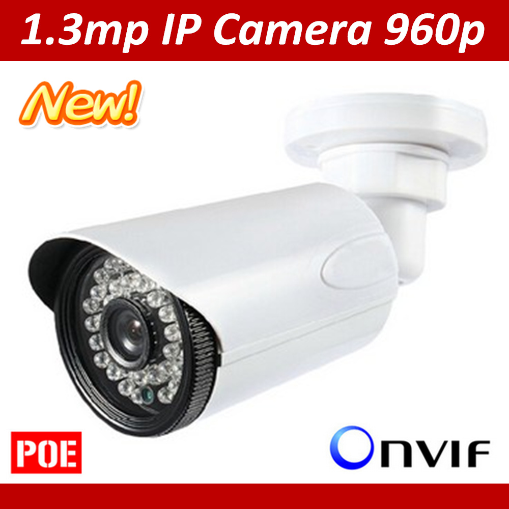 New Hot Selling 1.3MP Onvif HD960P IP Camera Outdoor Smart Phone View p2p Security Surveillance IP66 Support POE Free shipping<br>