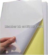 Wholesale 1000 sheets White glossy paper label A4 blank strong adhesive sticker sheets for laser printer