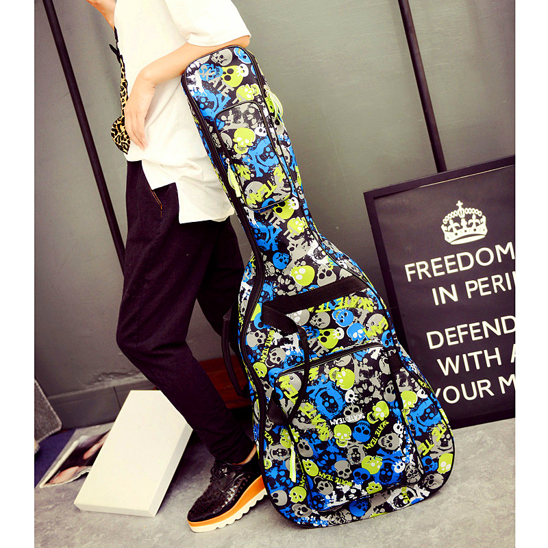 Waterproof Thicken 32 34 38 39 40 41 inch Folk Flattop Steel-String Acoustic Classical Guitar Bag Case Backpack Carry Gig Parts<br>