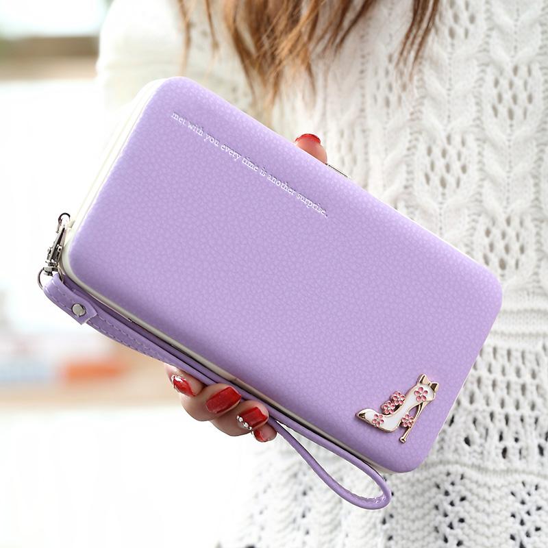 Leather Wallet Women Purse Phone Bag Case (15)
