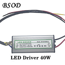 BSOD LED Driver 40W Lighting Transformer Power Supply Input Voltage AC85-265V Output DC 22-38V Constant Current 1500ma Aluminum