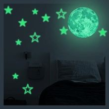 Glow In Dark Wall Ceiling Stars Stickers Wall Stickers Suns Moon Night Kid Home Decor Decoration Removable Wall Stickers Art(China)