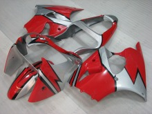 Fairing for Kawasaki ZX6r 2000 - 2002 01 Red Silvery Plastic Fairings 636 ZX-6r 01 Fairings for Kawasaki ZX6r 2002