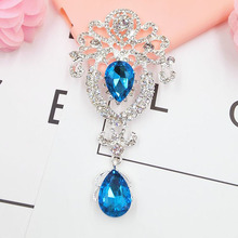 DOWER ME Brand 5pcs Gorgeous Gem Pendant DIY Beautiful Girl Phone Personalized Jewelry 3D Alloy Stickers(China)