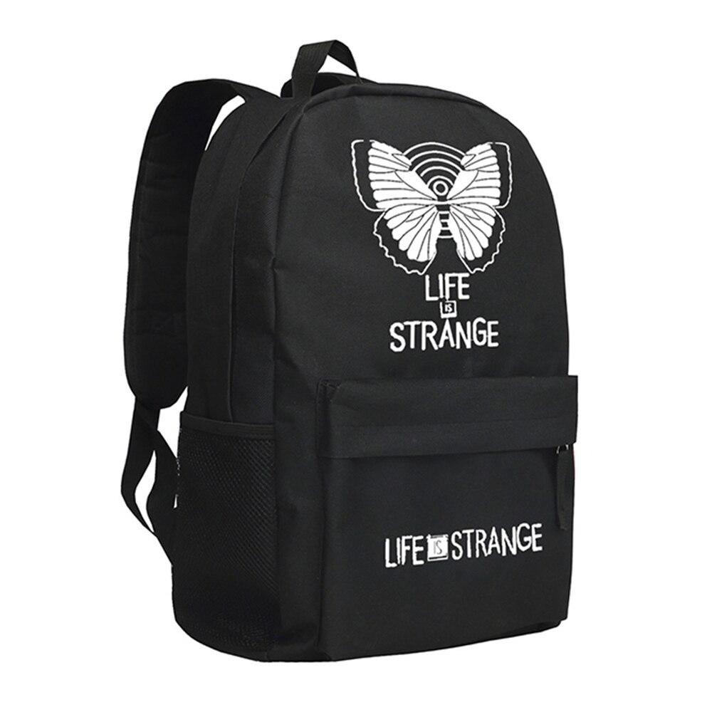 2018 Life Is Strange Backpack with Butterfly Pattern Shoulder Bag<br>