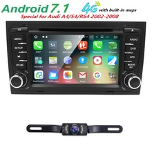 Android 7.1 QuadCore CarDVD Player for Audi A4 2002-2008 S4 RS4 8E 8F B9 B7 with radio 1024*600 16G ROM support DAB DVR SWC DVBT