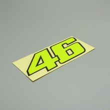 2 pack car stickers rossi 46 black neon yellow  12cm x 5cm stickers for car moto helmet