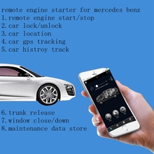 PLUSOBD GPS/GSM Car Alarm Remote Engine Start Stop Immobilizer Bypass Module With Mobile Phone Start Car For AUDI A4L Q5 A6(China)