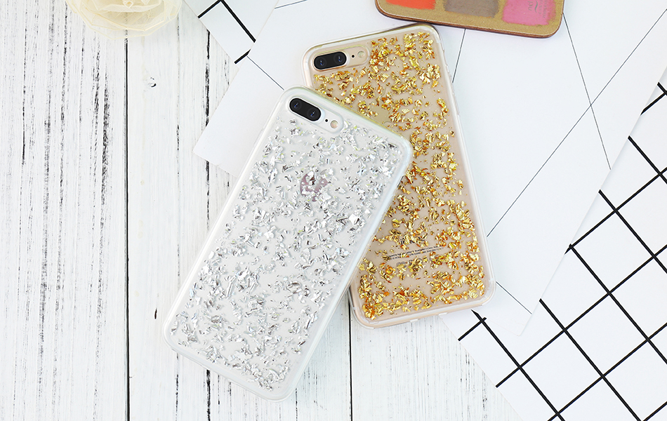 DOEES For iPhone 7 6 6S Plus 5 5S SE Case Luxury Cute Glitter Clear Case For Samsung Galaxy S8 Plus S7 S6 Edge S5 Note 7 5 Back Cover (7)