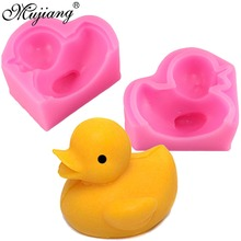 Mujiang 3D Duck Silicone Candle Mold Fimo Clay Soap Molds Fondant Cake Decorating Tools Gumpaste Chocolate Moulds Kitchen Baking