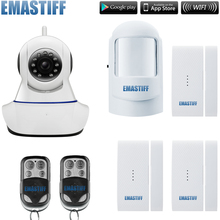720P WiFi IP Camera Home Office Burglar safety System Motion Sensors security system Kit no SD Card include(China)