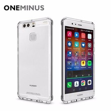 Anti knock Clear Protective Case For Huawei P9 Case Coque Shockproof Hard back cover For P9 case cover Fundas(China)