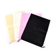 2pcs/lot thicken bag non-woven drawstring bags cloth storage bags shoe container storage dust proof bags for shoes