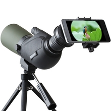 12-45X HD Travel Monocular Lens Waterproof Prism Spotting Scope Bird Watching Telescope Optic Zoom Lens with Tripod for Phones(China)