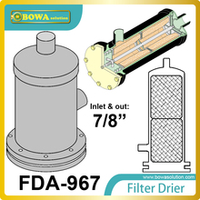 FDA-967 replaceable core filter driers are designed to be used in both the liquid and suction lines of cooling equipment.