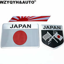 Car Styling Japanese Flag Emblem Badge Car Sticker Decals Accessories For Toyoto Honda Nissan Mazda Lexus Mitsubishi Car-Styling(China)