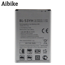 Aibike New mobile phone battery BL-53YH 3000mAh For LG G3 D858 D855 D857 D859 D850 F400 F460 F470 F400L D830 D851 VS985 Battery