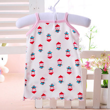 2017 summer print infants toddlers baby cotton sleeveless tshirts girls boys casual tops tees clothes(China)
