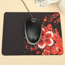 22X18cm Red Flower Mouse Pad Rubber Cup Mat Gorgeous Charm Blossom Large Custom Made Printed Mouse Mat