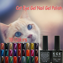 KCE 36 Colors Magnetic Cat Eye Gel Nail Gel Polish Long-lasting UV Fingernail Gel Soak-off LED UV Color Gel Varnish 10ML/PCS