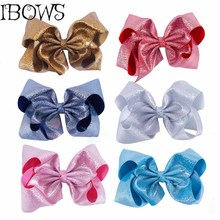 8 Inch Bling Big Hair Clips Girl Fashion Large Hair Bows With Alligator Clips Hair Accessories For Women Ponytail Hair Holder(China)