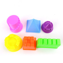 6PCS small castle indoor mold novelty magic sand beach toys, modeling clay drawing toy gifts