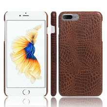 New Arrival Alligator Pattern Skin Sticker Case Hard PC + PU Leather Case Back Cover For iPhone 5 5s SE 6 6s Plus 7 8 Plus(China)