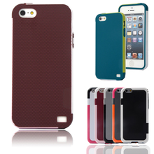 Candy Double Color ARMOR Soft TPU Hybrid Back Case For Apple iphone 5 5S Shockproof Cell Phone Protect Cover For iphone5S 5G(China)