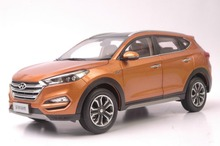 1:18 Diecast Model for Hyundai Tucson 2015 Orange SUV Alloy Toy Car Collection IX(China)