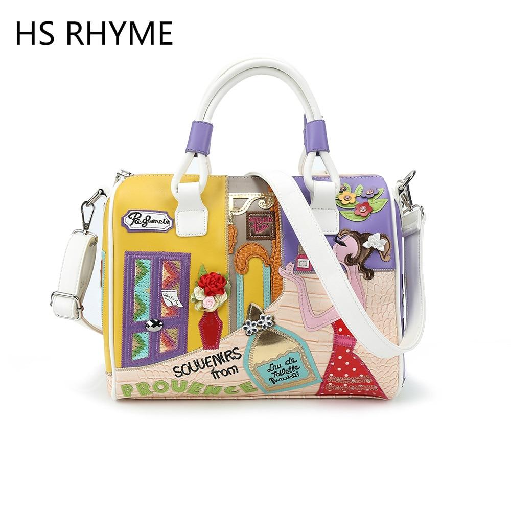 HS RHYME Women Handbag Shoulder Bag Braccialin Style Sac A Main Borse Di Marca Bolsa Feminina Luxury Handbags Women Bags<br>