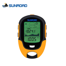 SUNROAD Mini Portable Outdoor Camping Hiking IPX4 Waterproof LCD Digital Compass Altimeter Barometer For Outdoor Fishing FR500