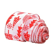 Merry Christmas Ribbon Party Decoration Christmas Tree Party Supplies Burlap 2 Kinds Red New Year Festival Streamers(China)