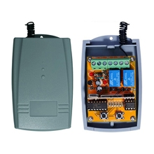 Universal 2 Channel 12 - 24V AC/DCWireless Rolling Code Receiver for Gate Automation Door(China)