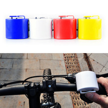 New Colorful Mini Bicycle Electronic Horn Bell Bike Cycling Handbar Ultra-loud Alarm Bell Horn Power By 2 AAA Color Random